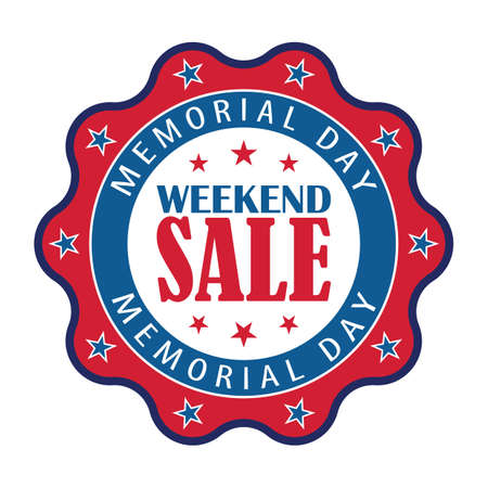 memorial day sale Stock Illustratie