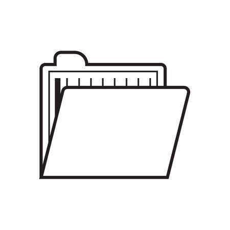 folder with documents: file with documents