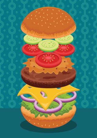 patty: hamburger