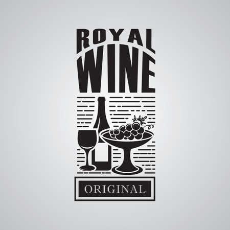 etiqueta de vino real