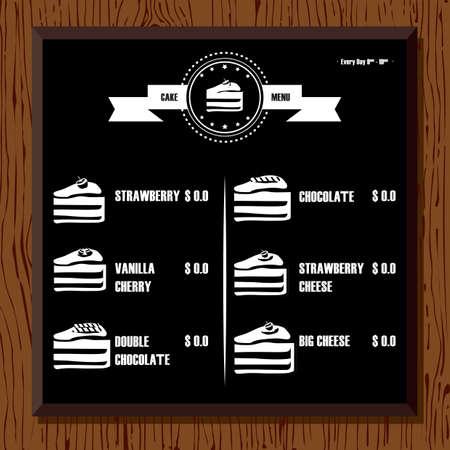 bakery price: cake menu