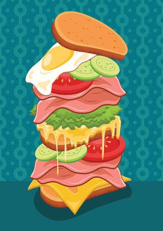 onion slice: sandwich