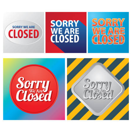 closed: sorry we are closed labels