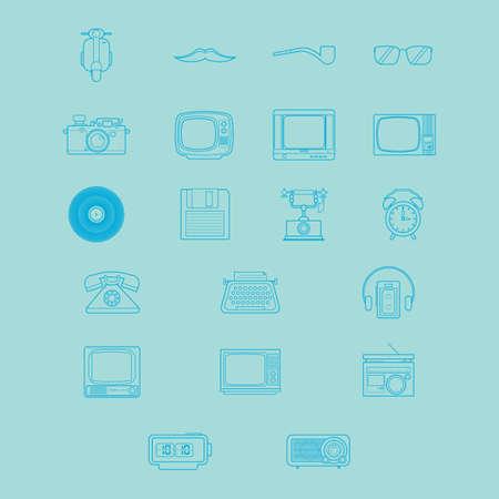 walkman: retro icons Illustration