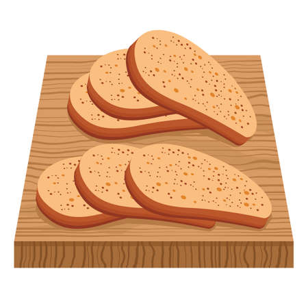 slices: bread slices on chopping board