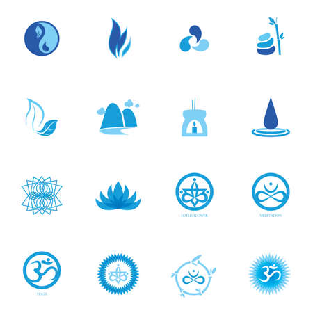 syllable: assorted zen and yoga icon set Illustration