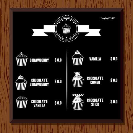bakery price: cupcake menu