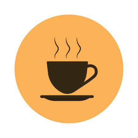 hot: hot coffee Illustration