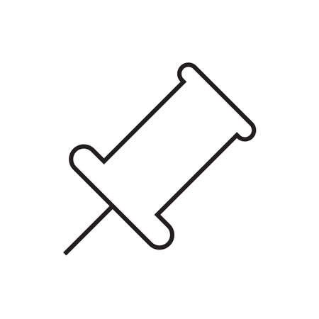 push: push pin Illustration