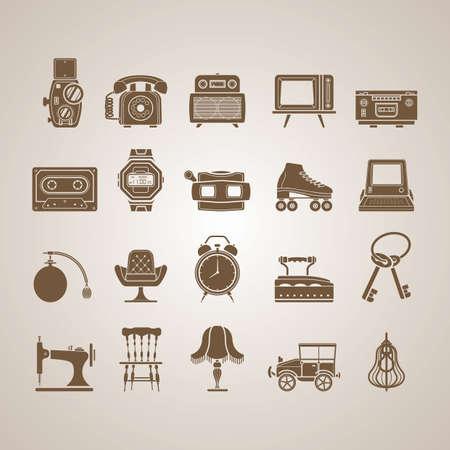 showpiece: retro icons Illustration