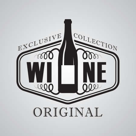 exclusive collection: wine label
