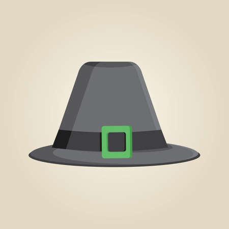 head wear: pilgrim hat
