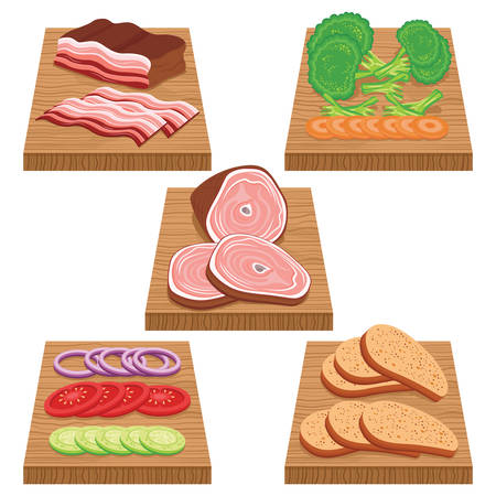 chopping: food item on chopping board