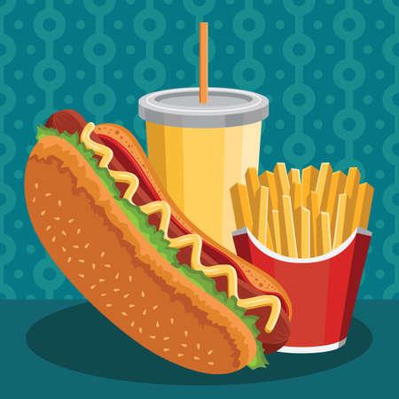 meal: hot dog set meal
