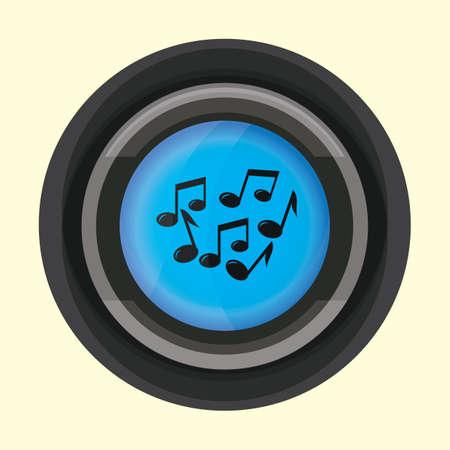 quaver: musical notes Illustration