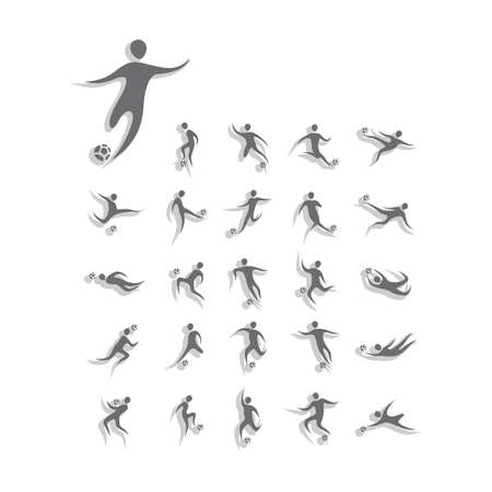 soccer players: soccer players pictogram