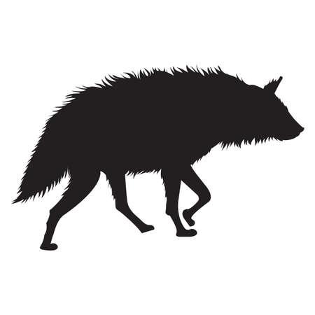 hyena: silhouette of hyena