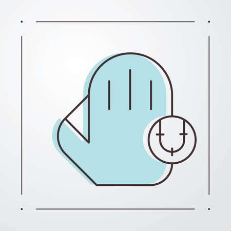 guante de beisbol: guante de b�isbol con la bola Vectores