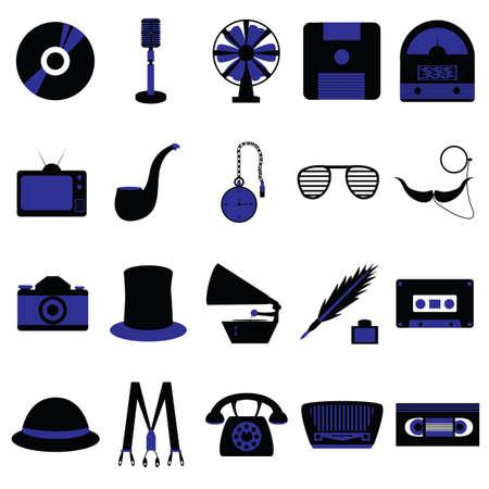 suspenders: retro icons Illustration