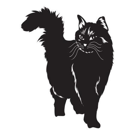 Silhouette der Katze Vektorgrafik