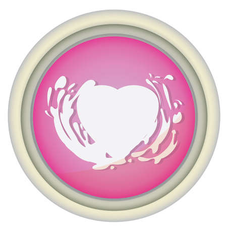 spatters: heart with splashes