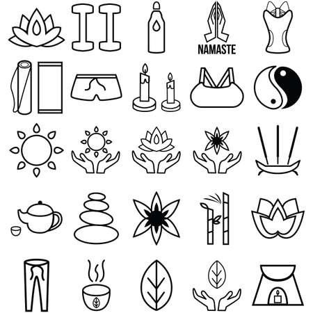 assorted yoga and zen set