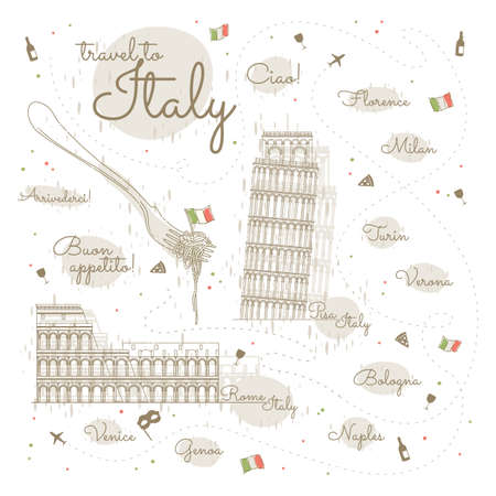 ciao: italy poster Illustration