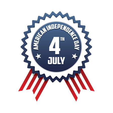 4th: 4th july american independence day badge Illustration