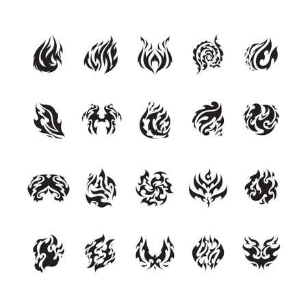 tattoo design: tattoo design set