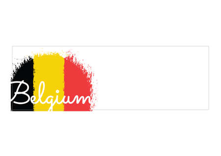 belgium: banner with belgium flag