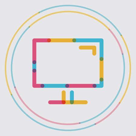 on computer: computer display