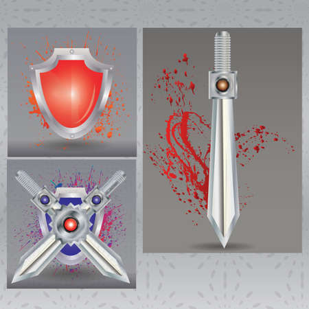 weaponry: swords and shields