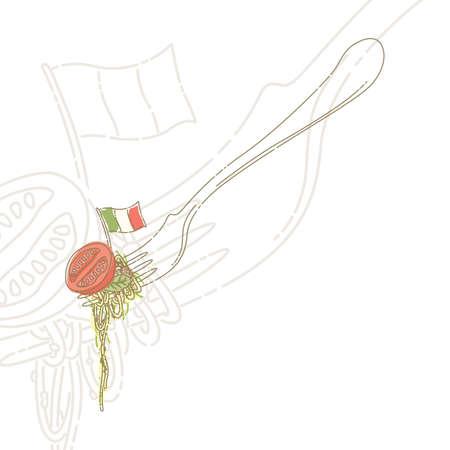 spaghetti sulla forcella