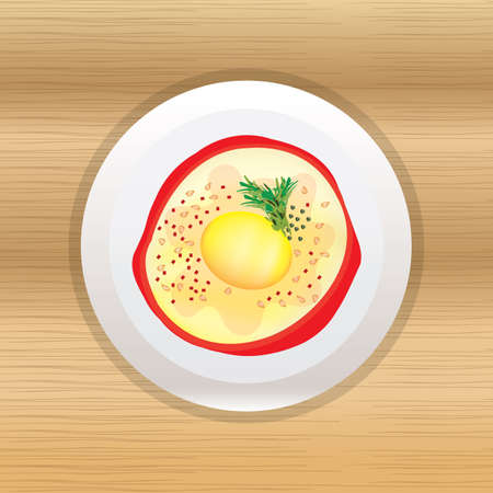 capsicum: egg in capsicum ring