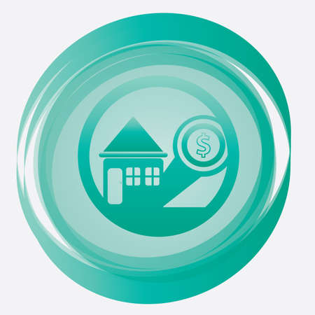 dollar icon: home with dollar icon