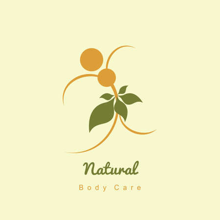 bodycare: nature body care icon Illustration