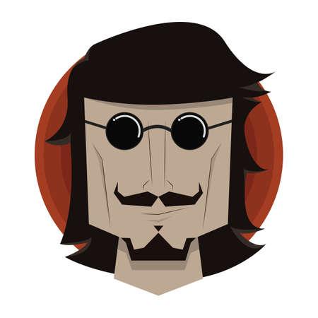 wearing: man wearing sunglasses Illustration