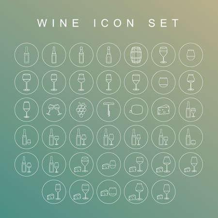wine icon set Illustration