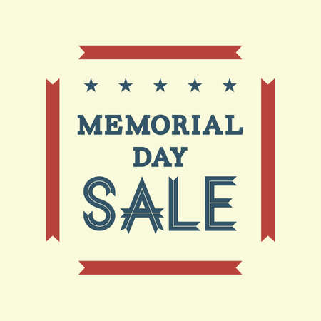 memorial day sale Illustration