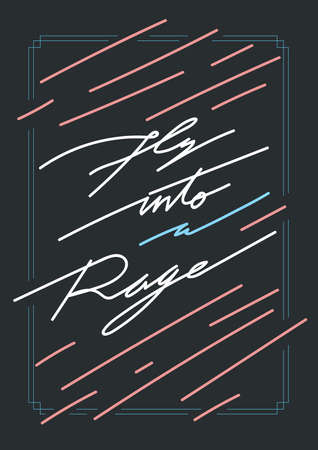rage: fly into rage poster
