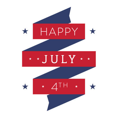 july 4th: happy july 4th banner Illustration