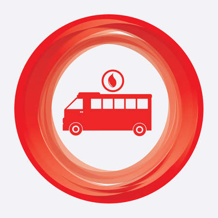 wheeler: ambulance with blood drop