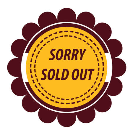 sold: sorry sold out label