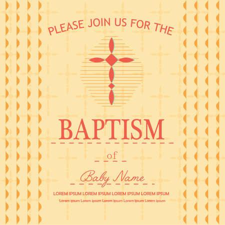 Battesimo volantino Archivio Fotografico - 81590317