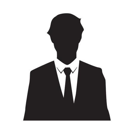 silhouette of a businessman Ilustração