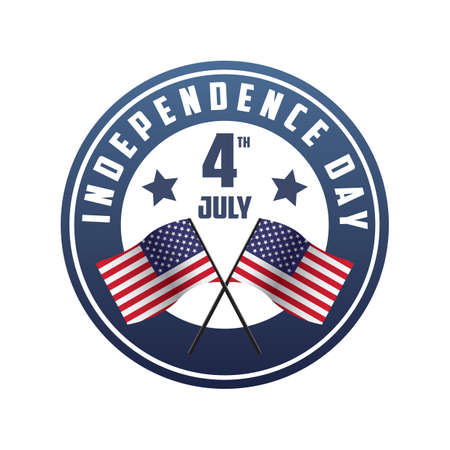 4th: 4th july independence day label