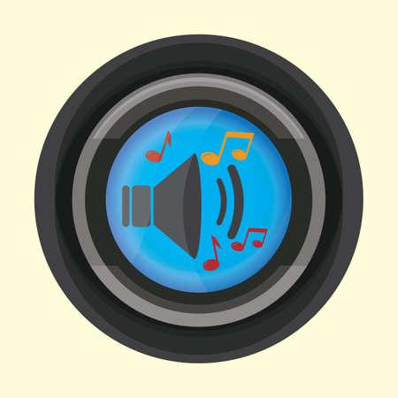 Icon of speaker volume illustration. 向量圖像