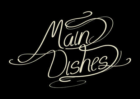 the dishes: word main dishes