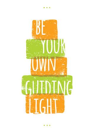 guiding light: motivational quote Illustration