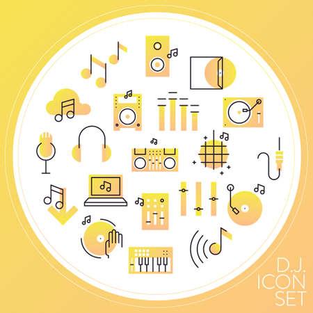 cd recorder: dj icon set
